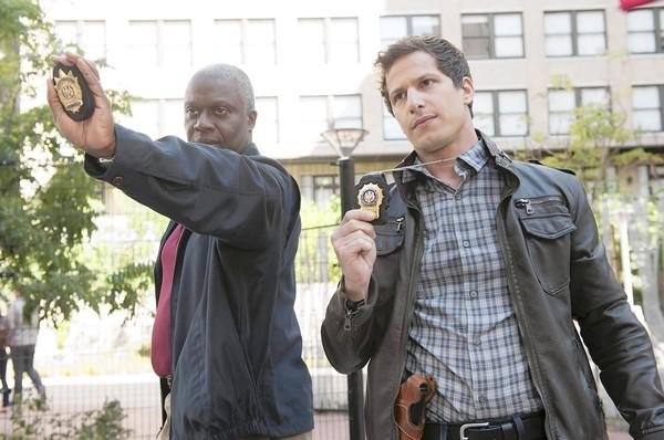 "Andre Braugher, left, and Andy Samberg star in ""Brooklyn Nine-Nine."""