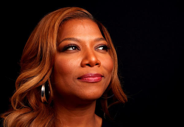 "Queen Latifah on the set of the new ""The Queen Latifah Show."""