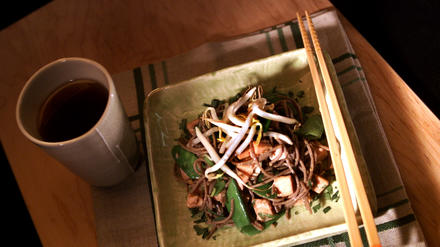 Smoked Chicken With Soba Noodles