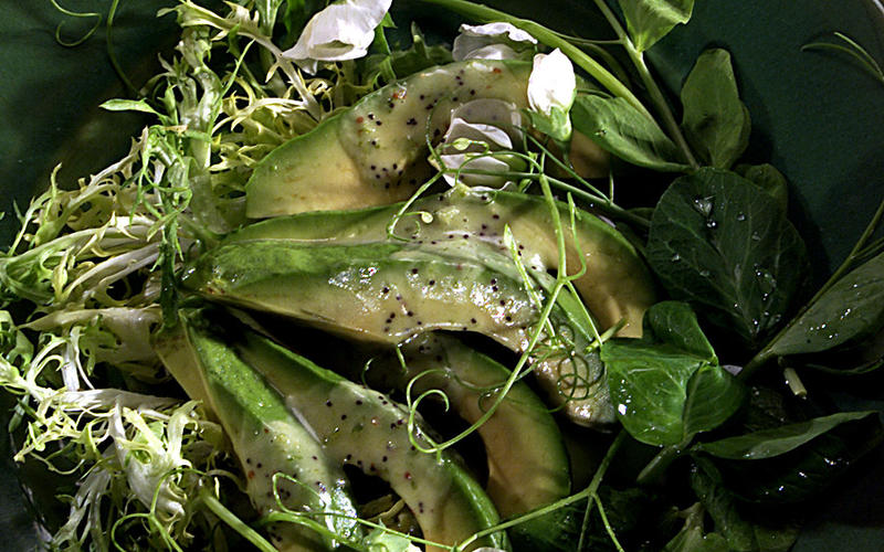 Sliced Avocado With Poppy Seed Vinaigrette