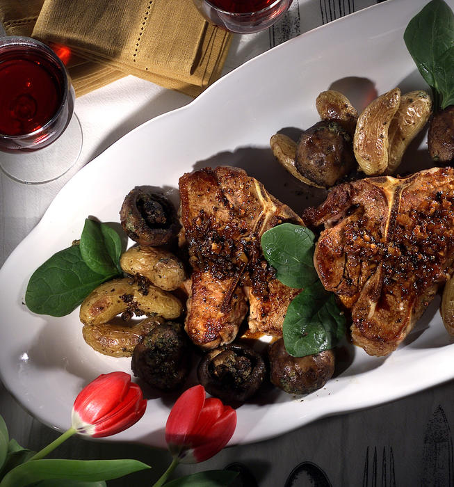 Veal Chops With Marsala Pan Juices