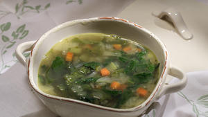 Pot herb soup (mustard greens, spinach, arugula)