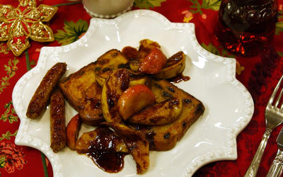 Maple French Toast With Baked Apple Slices