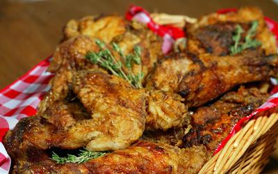 Scott Peacock's fried chicken with tomato gravy