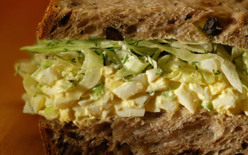 Egg salad sandwich with dill