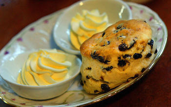 The Peninsula's currant scones