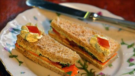Cucumber and tomato tea sandwiches