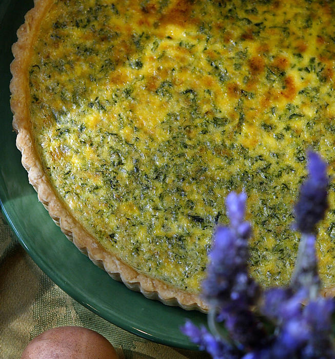 Spinach and Parmesan tart