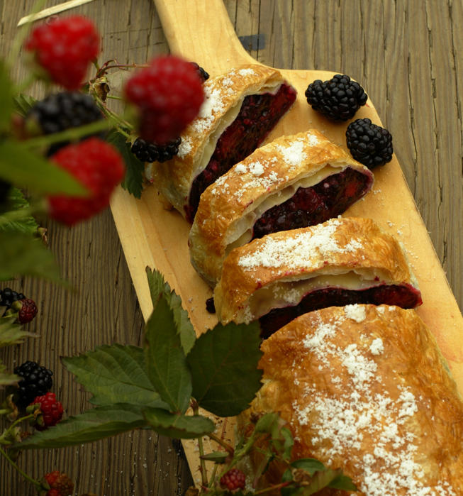 Blackberry strudel