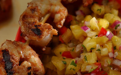 Shrimp with tamarind recado (marinade)