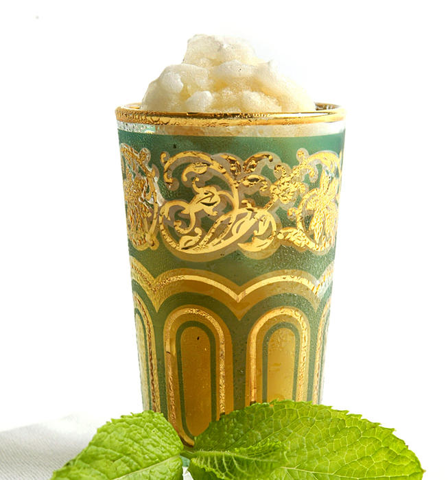 Moroccan tea ice