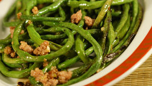 Dry-fried Sichuan string beans