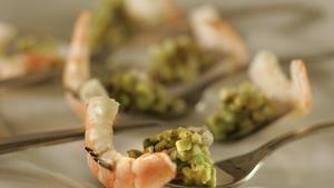Shrimp with avocado salsa