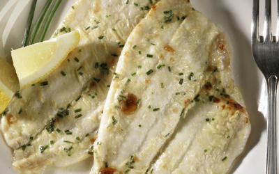 Mustard-broiled flatfish