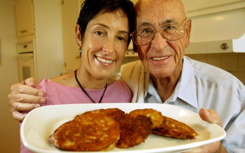 Potato and parsnip pancakes