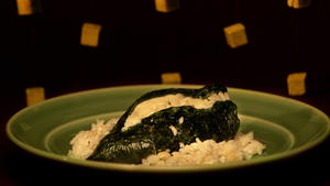 Chiles rellenos de queso (chiles stuffed with panela cheese)