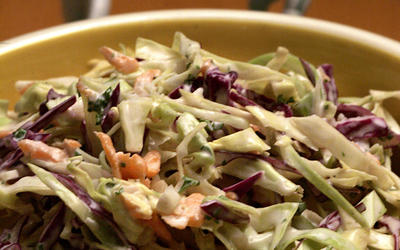 Coleslaw with buttermilk dressing