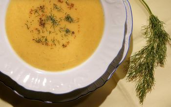 Fennel-carrot soup