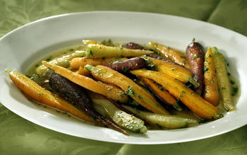 Spring ragout of baby carrots