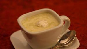 Warm ricotta soup