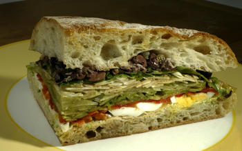 Zinc Cafe mixed vegetable sandwich