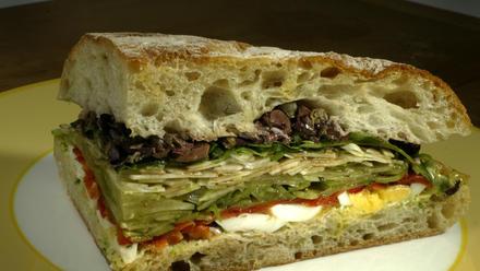 Zinc Cafe mixed vegetable sandwich