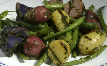 Grilled baby new potato salad