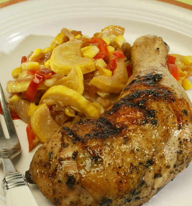 Beer- and lime-marinated chicken