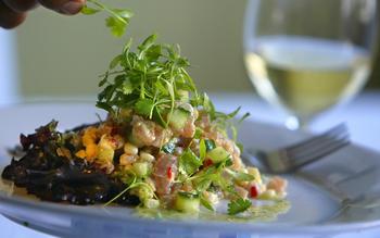 Albacore ceviche salad