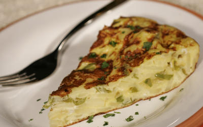 Tortilla Espanola with shishitos