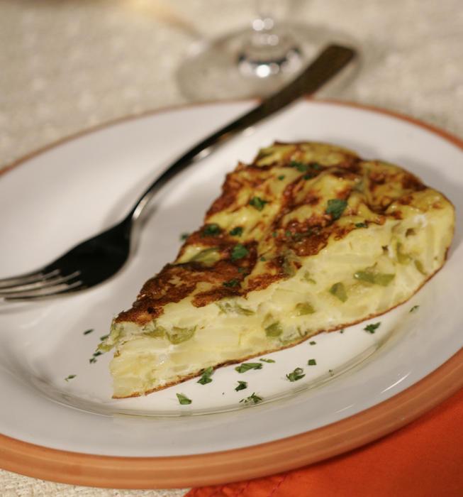 Tortilla Espanola with shishitos