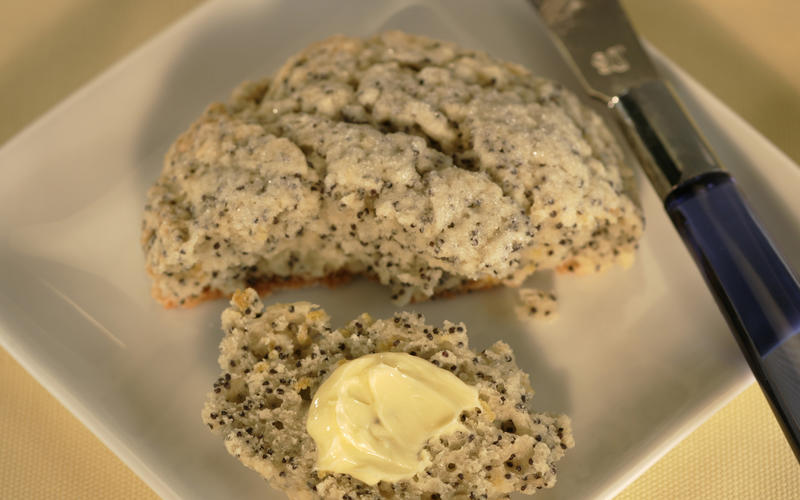 Maple Drive lemon poppy seed scones