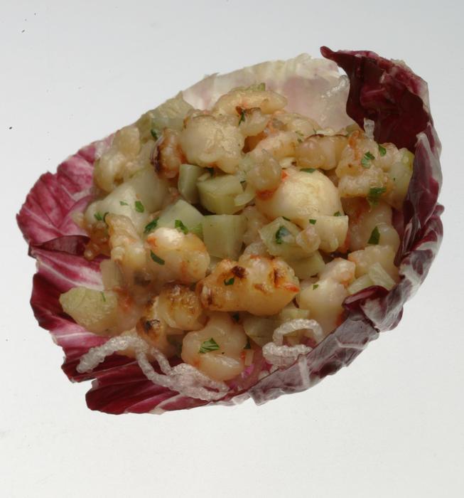 Shrimp artichoke lettuce cups