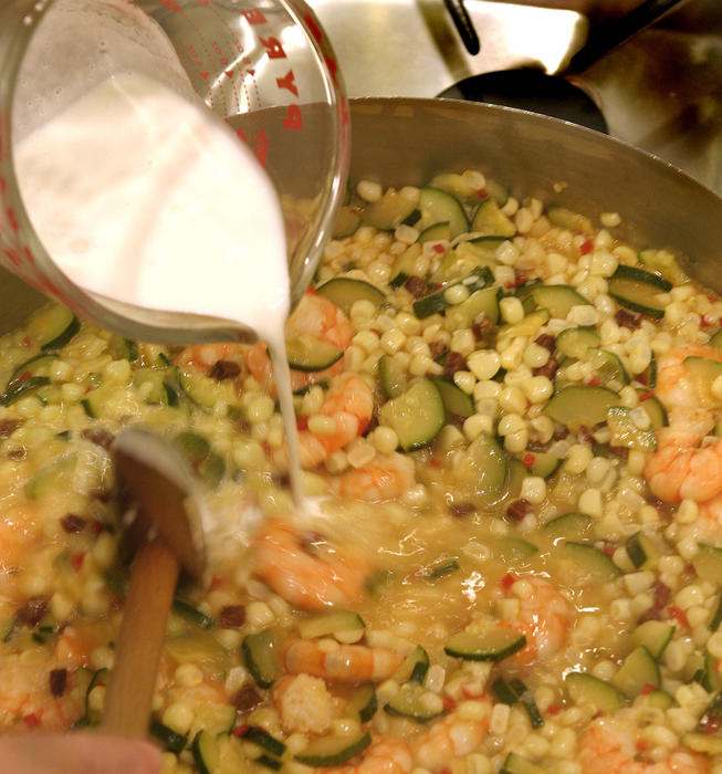 Sweet corn and shrimp 'risotto'