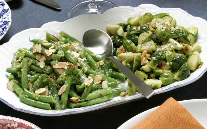 Meyer lemon green beans