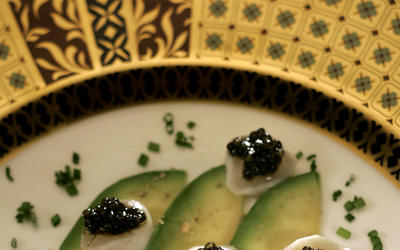 Scallop ceviche with caviar