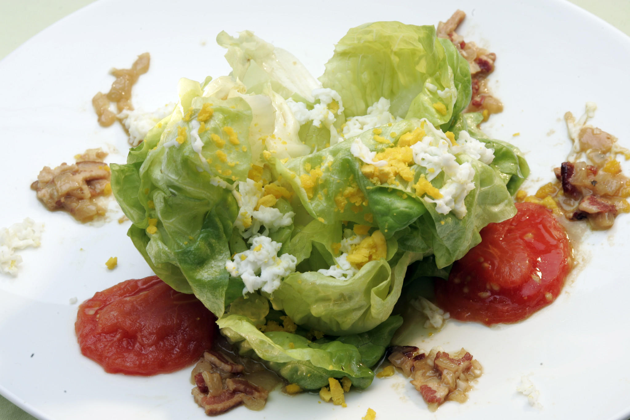 Recipe Butter Lettuce Salad With Melted Tomatoes And Bacon Shallot Vinaigrette California