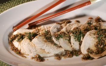 Cold chicken slices with sesame and Sichuan pepper