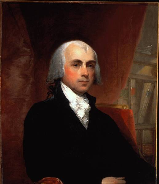 Did James Madison, pictured in this portrait by Gilbert Stuart, and the other framers of the U.S. Constitution foul up the preamble's grammar?