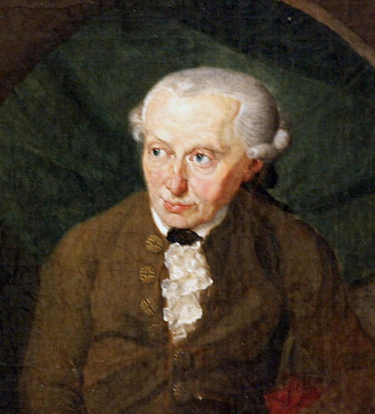 Philosopher Immanuel Kant is portrayed in a 1791 painting by Gottlieb Doebler. Kant was the subject of a heated debate in Russia this week.