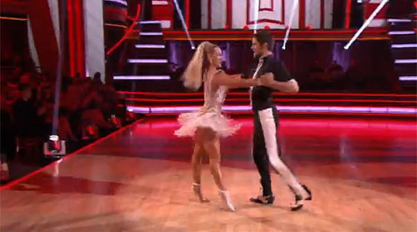 Images from the premiere of Dancing With the Stars. Brant Daugherty and partner Peta Murgatroyd danced the cha cha. They scored a out 22 of 30.