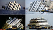 <b>Photos:</b> Capsized Costa Concordia being righted