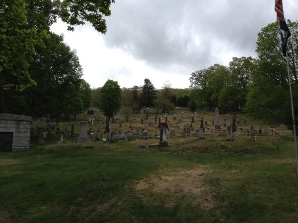 A view of the Collinsville Cemetery in Canton taken n May. The property has been mowed twice since then but town officials are worried about its upkeep and have asked the regional probate court to get involved.