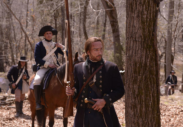 "Tom Mison stars as Ichabod Crane in the premiere episode of Fox's ""Sleepy Hollow,"" about a Revolutionary War hero who wakes up in modern-day New York."