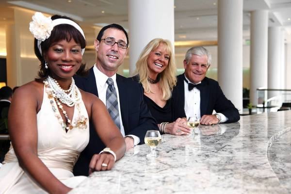 "Burnadette Norris-Weeks, left, Michael Goodman, Lisa Scott-Founds and Gerard ""Gerry"" Litrento"