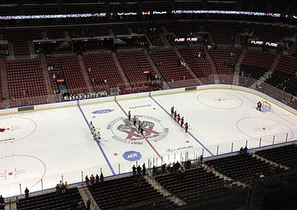 A Monday afternoon preseason game between the Florida Panthers and Nashville Predators didn't draw much of a crowd at the BB&T Center in Sunrise, Fla.