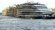 Costa Concordia  now upright