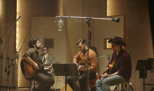 "Oscar Isaac, Justin Timberlake and Adam Driver in a scene from the film ""Inside Llewyn Davis."""