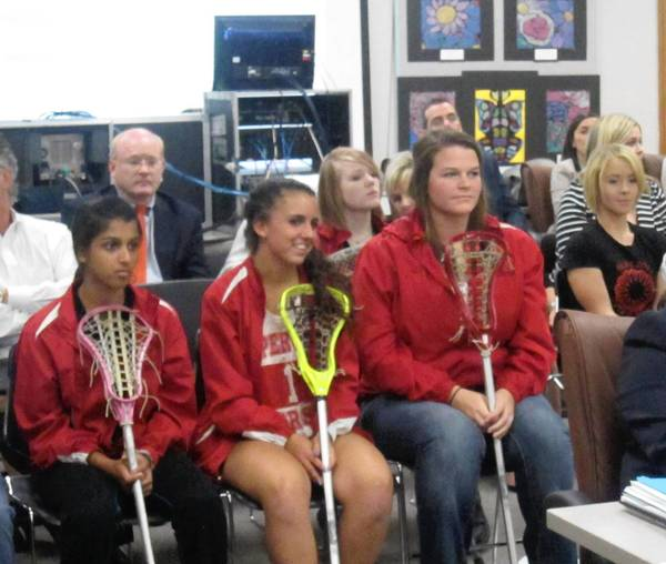 Naperville Central and North high school girls lacrosse teams are requesting to be recognized as a sanctioned sport instead of a club.