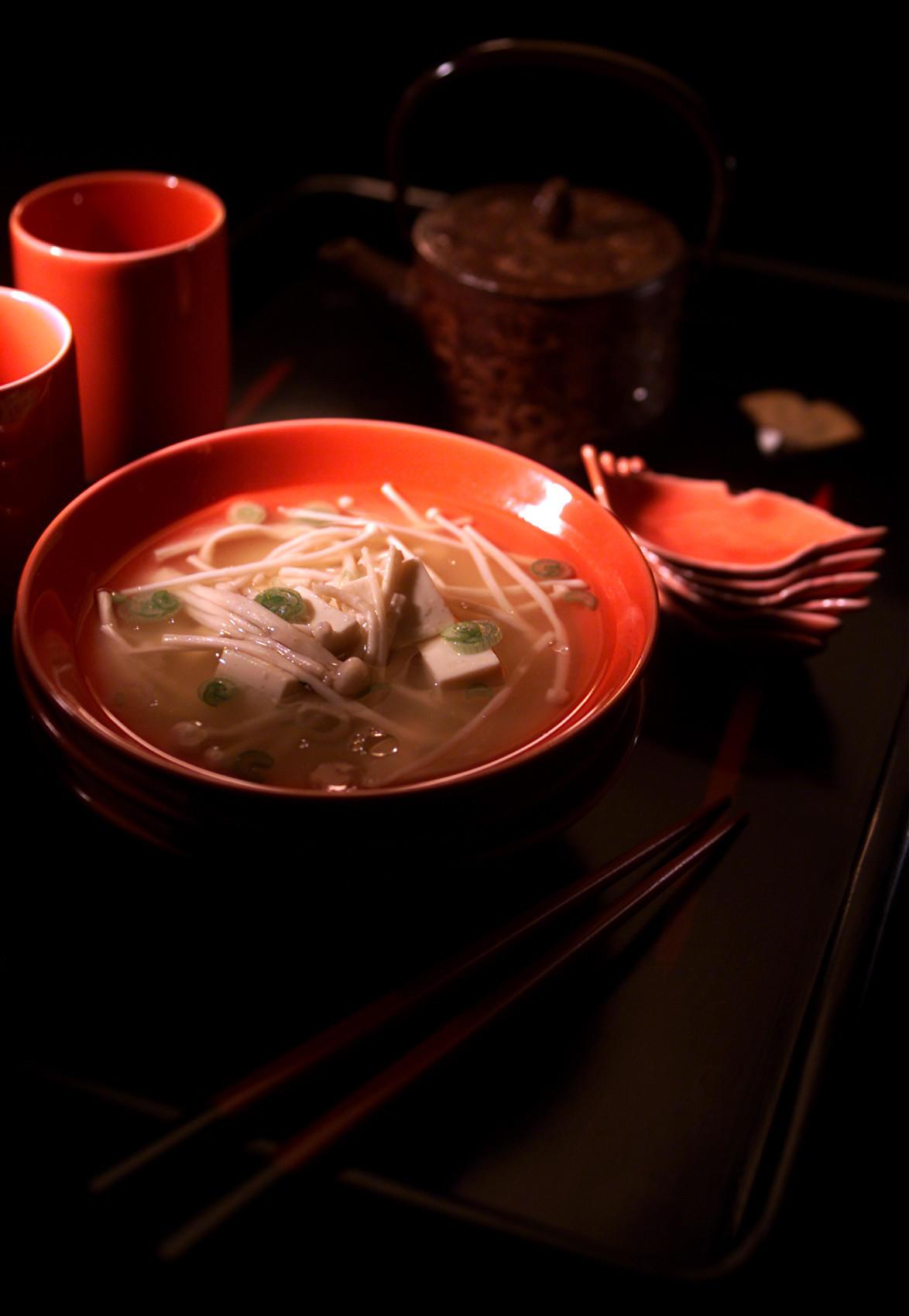 Recipe: Miso Soup With Tofu and Enoki Mushrooms ...